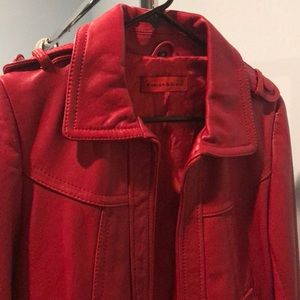 Red leather jacket - Knoles & Carter